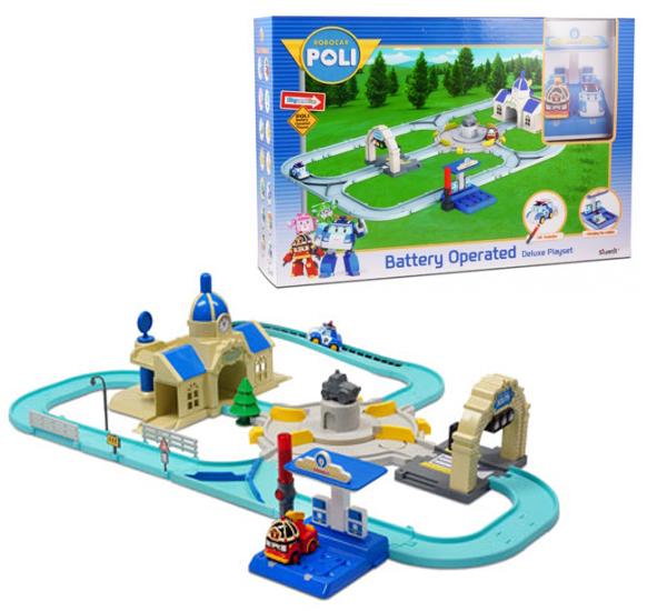 Набор игровой для мальчика Poli «Мега-трек с 2мя Умными машинками»