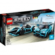 Конструктор LEGO Speed Champions 76898: Гоночные автомобили Formula E Panasonic Jaguar Racing GEN2 car & Jaguar I-PACE eTROPHY